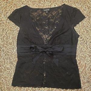 BEBE Black Lace Blouse
